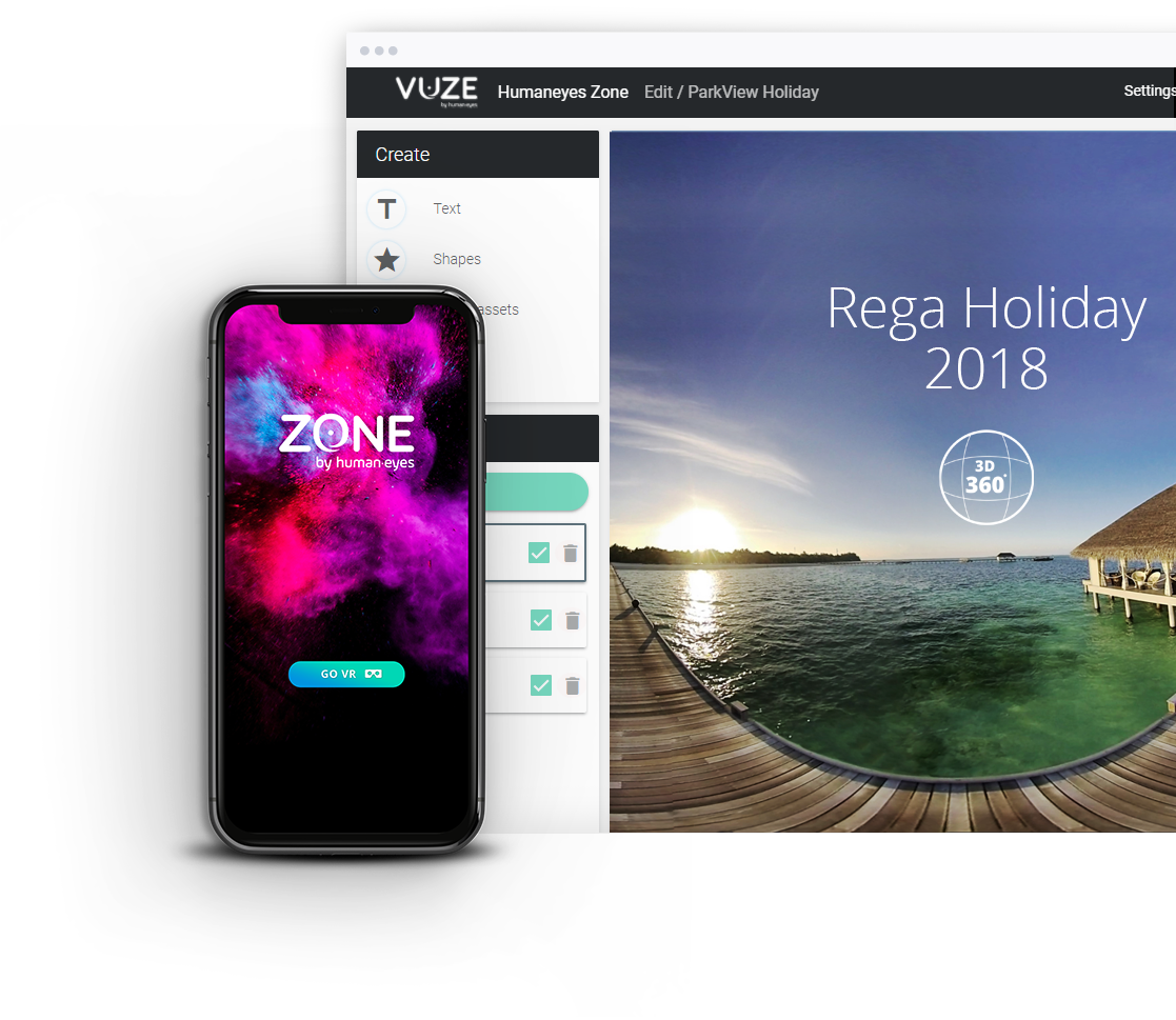 Create and Share VR with Humaneyes Zone VR video platform
